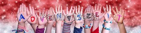 children hands adventszeit means advent season