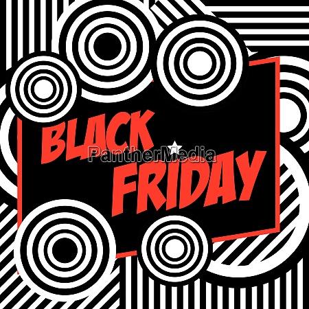 black friday banner retro style