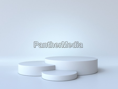 white cylinders stage 3d