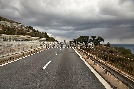 highway in hilly landscape