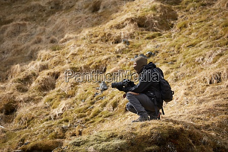 photographer in iceland landscape