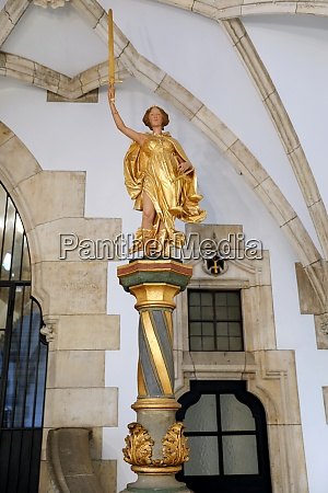 justitia in the new town hall