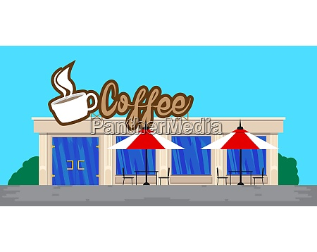 coffee store front without people in