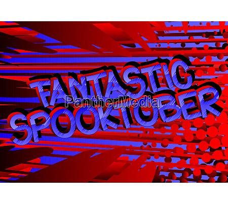 fantastic spooktober comic book style cartoon