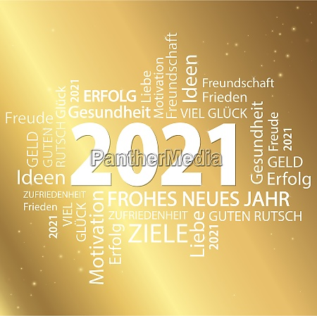 word cloud with new year 2021