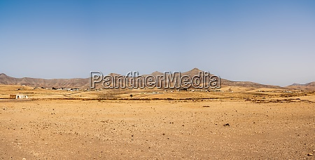 panoramic view of a desert landscape