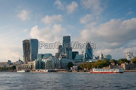 thames river skyline london great britain