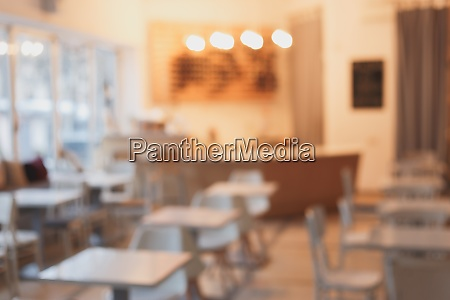 cafe interior out of focus