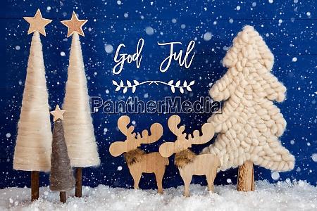 christmas tree moose snow god jul