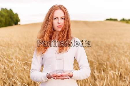 portrait of young red hair woman