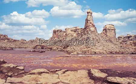 rock city in danakil depression ethiopia