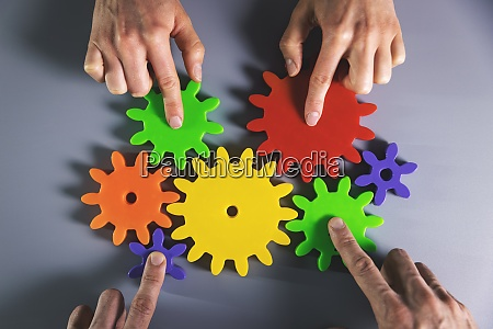 business development teamwork and partnership concept