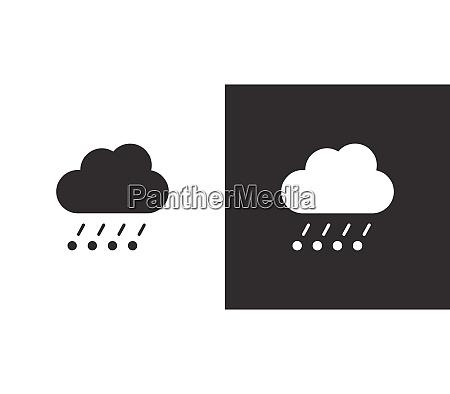 rain hail and cloud isolated icon
