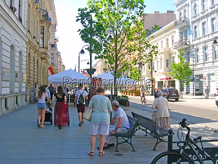 busy traffic on streets of polish