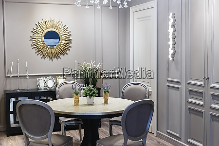 dining room in luxury home with