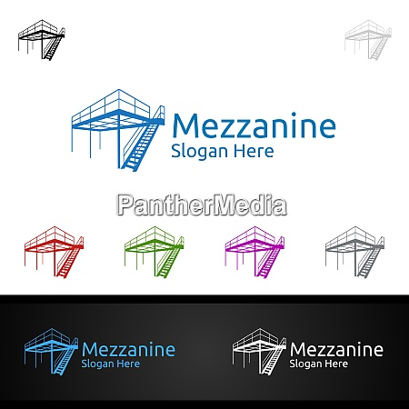 mezzanine flooring logo for parquet wooden