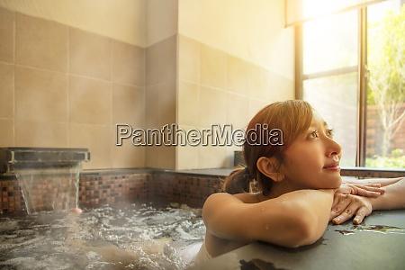 beautiful asian young woman relaxing