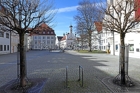 empty town hall square in kempten