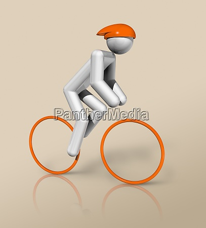 cycling road 3d icon olympic sports