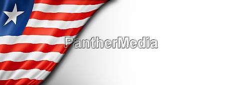 liberian flag isolated on white banner