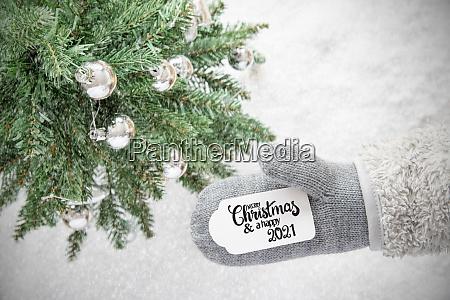 gray glove tree silver ball merry