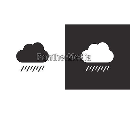 soft rain and cloud overcast isolated