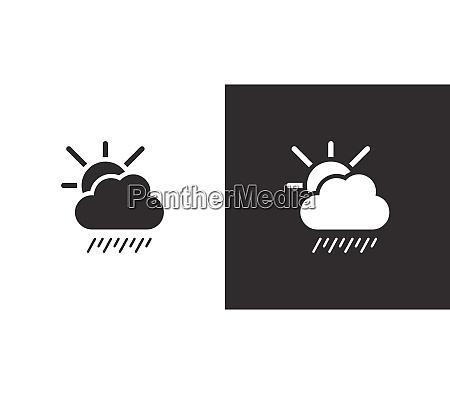 soft rain cloud and sun isolated
