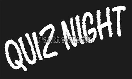 quiz night blackboard