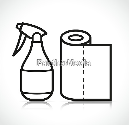vector isolated clean sprayer icon
