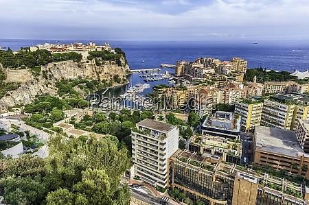 panoramic view of monaco city and