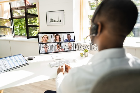 online work video conference or webinar
