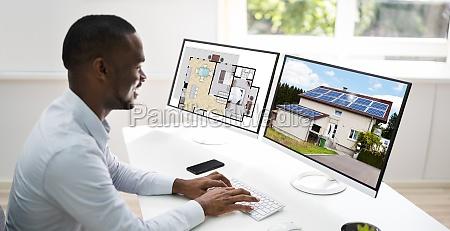 african american house designer looking
