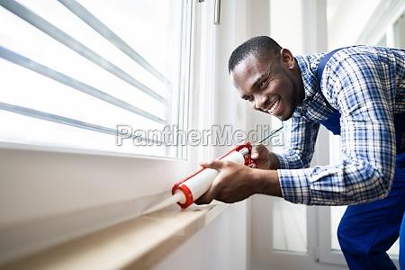 caulk sealant application silicone window seal