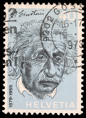 stamp printed in switzerland showing albert
