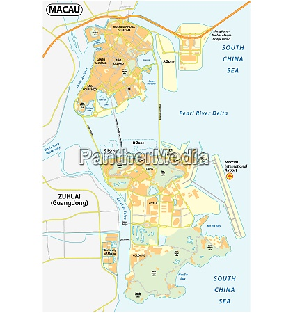 vector map of macao people s