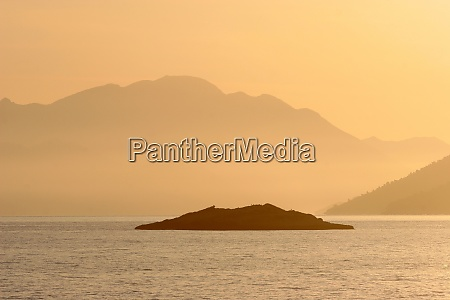 sundown adriatic sea