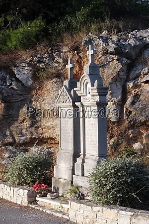 old mediterranean graveyard