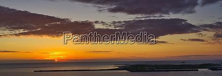 heligoland island dune sunrise