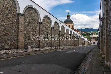 streets of tetschen castle decin czech
