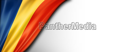 chad flag isolated on white banner