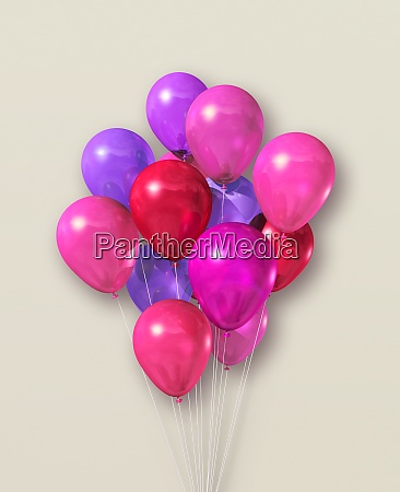 pink air balloons group on a