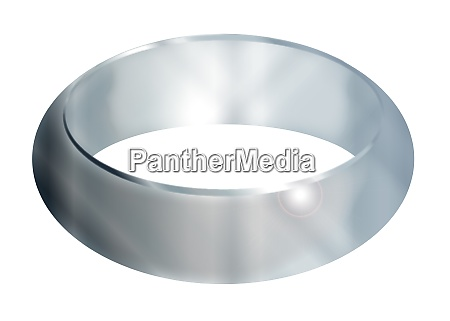 bright silver ring