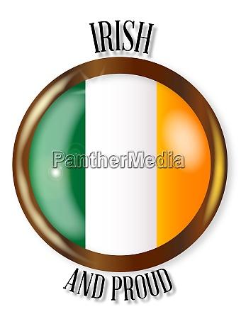 irish proud flag button