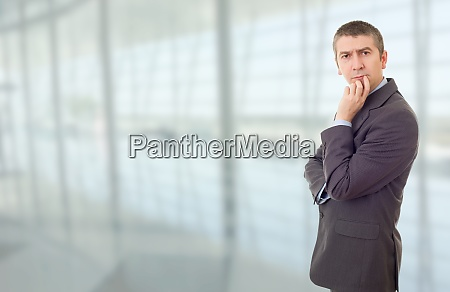 businessman thinking at the office