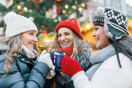 christmas market for a group of