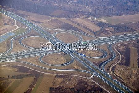 highway junction highway shape like number