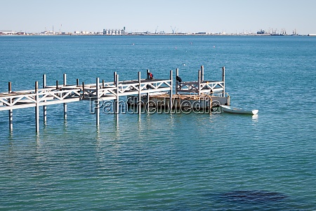 construction of the pier