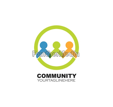 community network and social icon design