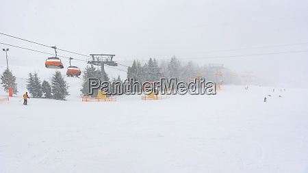 ski slope at slotwiny arena ski