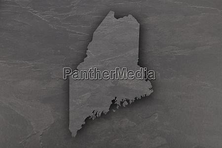 map of maine on dark slate